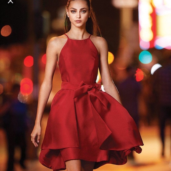 Gianni Bini Dresses Hansen Red Short Formal Dress Poshmark